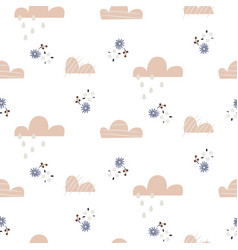 cloud pattern cute sky seamless background vector image