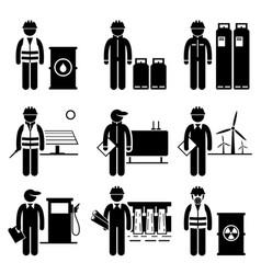 commodities energy fuel power stick figure vector image