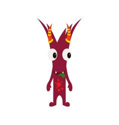 Cute and funny monster avatar - animated cartoon vector