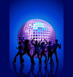 Disco dancing people vector