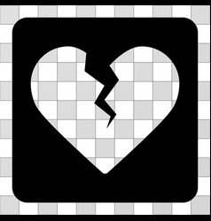 divorce heart rounded square vector image