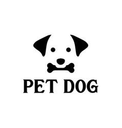 dog logo design template vector image