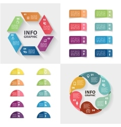 ector infographics set collection colorful vector image