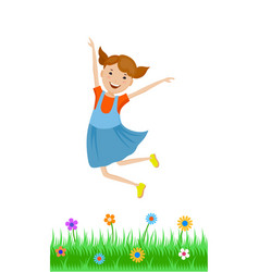 featuring dancing small girl vector image