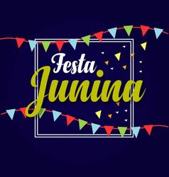 festa junina logo template design vector image