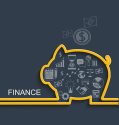 finance and business concept vector image