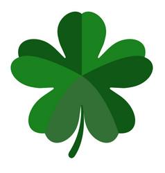 Five leaf clover vector