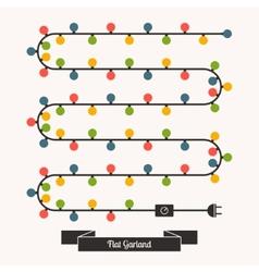 Flat Garland vector image