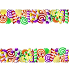 frame made colorful candies vector image