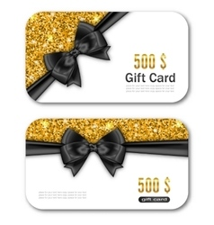 Gift Card Template with Golden Dust Texture and vector image