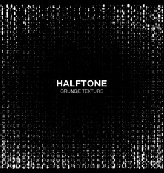 grunge border halftone frame texture vector image