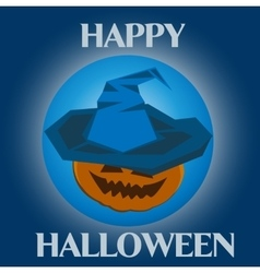 Halloween witch in hat vector image