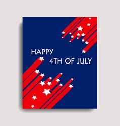 Happy 4th july vector