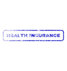 Health insurance rubber stamp vector