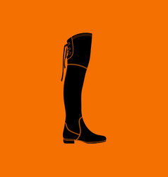 hessian boots icon vector image