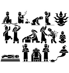 Icons man arabs vector