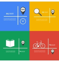 Items for infographics bike book clock vector image