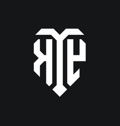 Ky logo monogram design template vector