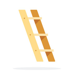 Ladder side view flat isolated vector