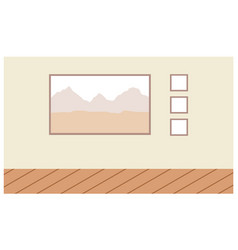 landscape painting in a wooden frame vector image