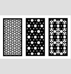 lazer cut panel cnc decor pattern jali vector image