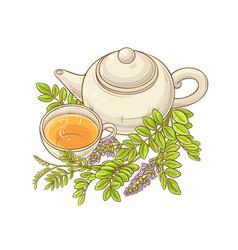 Licorice tea vector