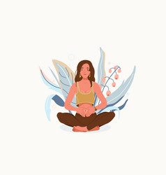 Love yourself background self-care body vector