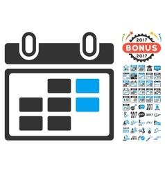 Month Calendar Icon With 2017 Year Bonus vector image
