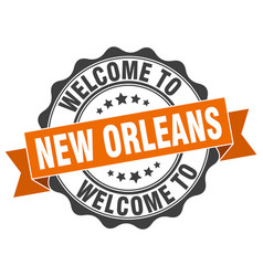 New orleans round ribbon seal vector
