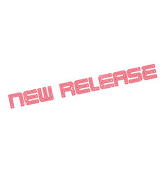 new release rubber stamp vector image