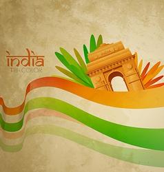 Old indian flag design vector