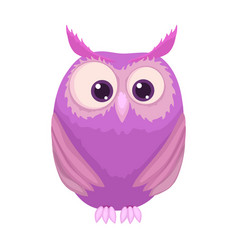Owl iconcartoon icon isolated on vector
