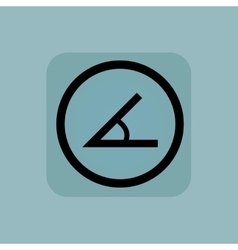Pale blue angle sign vector