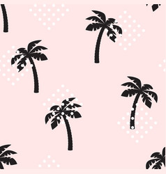 palm tree pattern seamless texture vector image