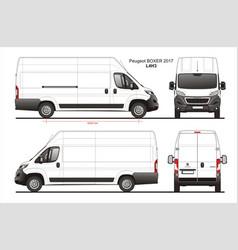 Peugeot boxer cargo delivery van 2017 l4h3 vector