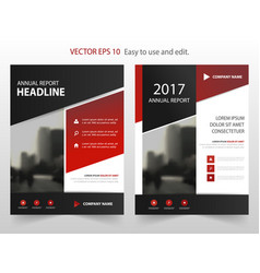 red black annual report leaflet brochure vector image