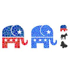 republican elephant composition icon spheric vector image