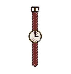 Scribble vintage watch cartoon vector
