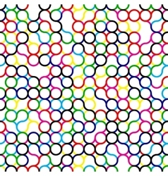 Seamless Multicolor Circles Grid Pattern vector image