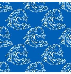 Seamless pattern of a curling waves vector image