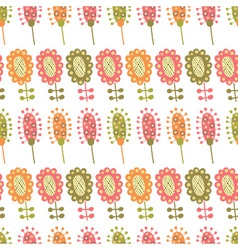seamless pattern with multiple colored flowers vector image