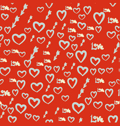 Seamless romance pattern abstract background with vector