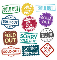 sold out stamps vector image vector image