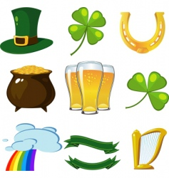 St patrick set vector