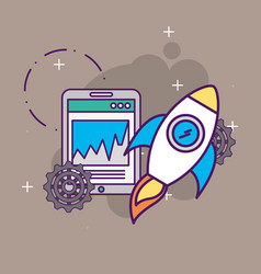start up business vector image