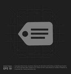 Tag icon - black creative background vector