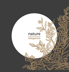 template coffee nature vector image