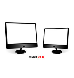 Template two monitors vector