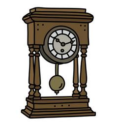 The retro desktop pendulum clock vector