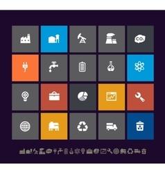 Trendy metro industrial icons vector